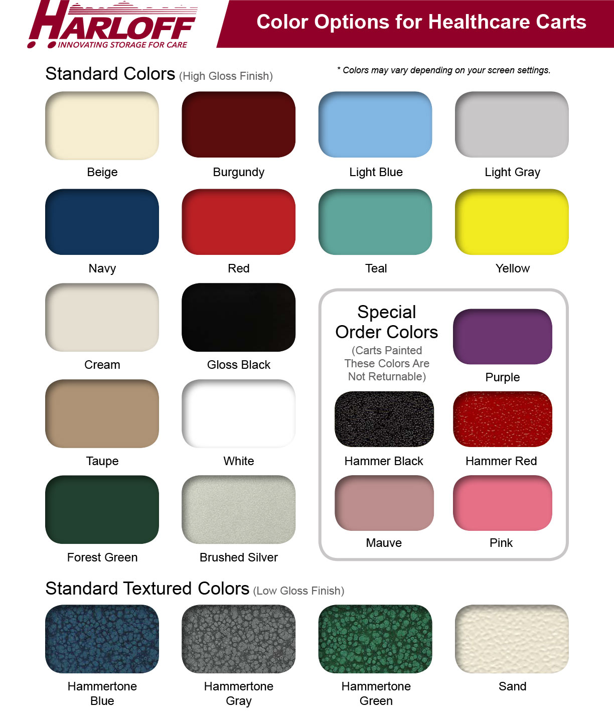 Harloff Color Examples