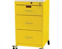 Harloff 3143K Mini Line 3 Drawer Infection Control Cart