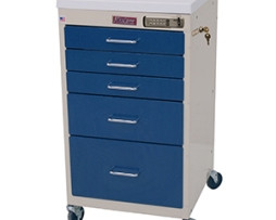 Harloff 3145E Mini Line Procedure Cart Electronic Lock