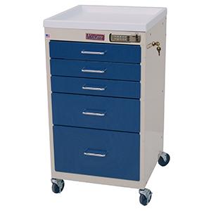 Harloff 3145e Mini Line Procedure Cart Electronic Lock On
