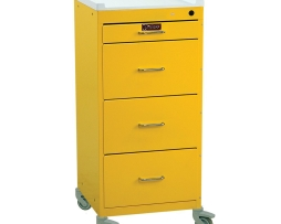 Harloff 3154K Mini Line 4 Drawer Infection Control Cart