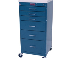 Harloff 3156K Mini Line Six Drawer Anesthesia Cart