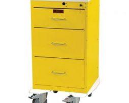Harloff 3243K Mini Line 3 Drawer Infection Control Cart