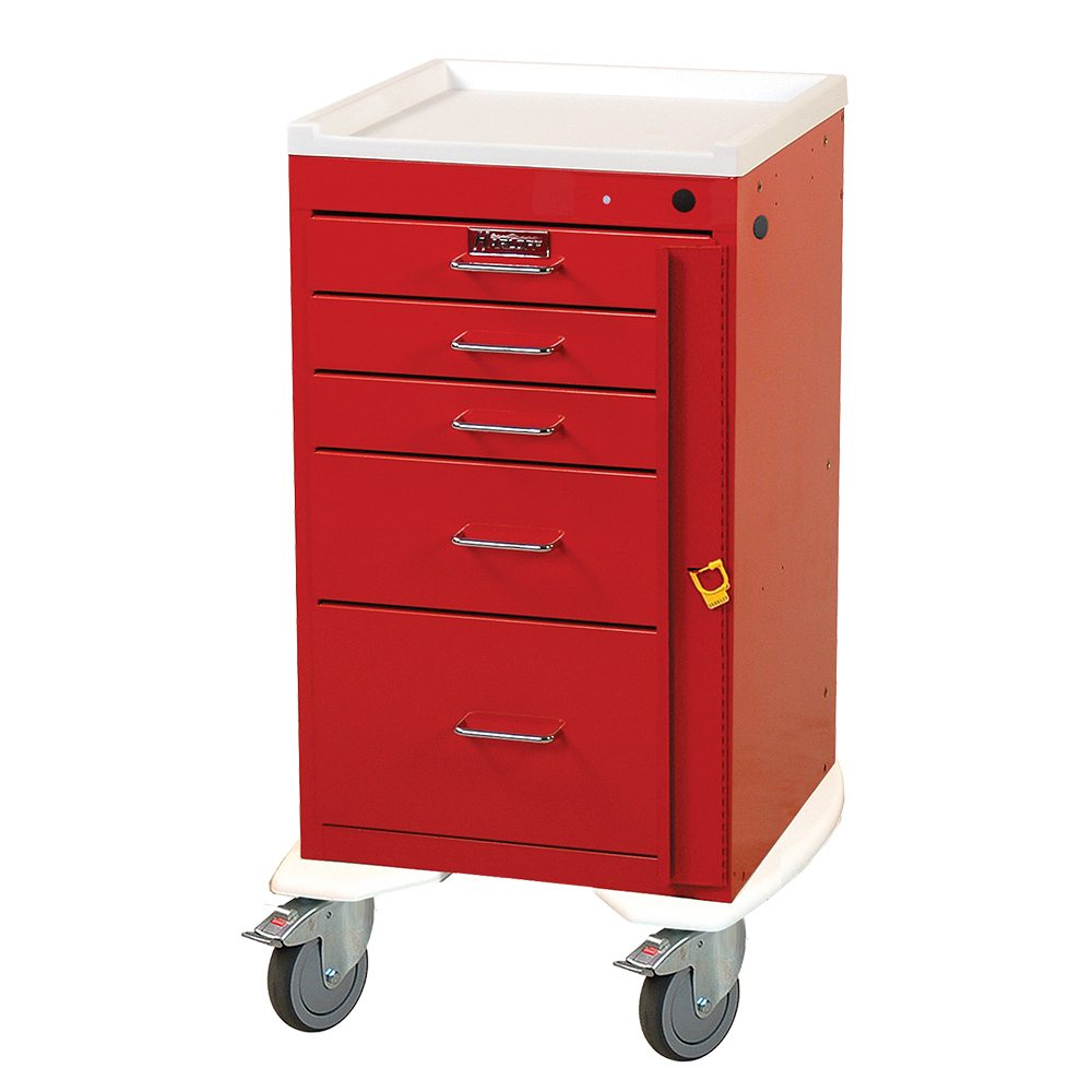 Harloff 3245b Mini Line Five Drawer Emergency Cart On Sale