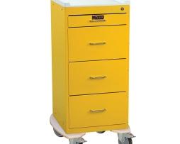Harloff 3254K Infection Control Cart Mini Line Four Drawer