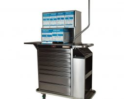 Harloff 6025-TC Stainless Steel Eight Drawer Deluxe Cast Cart