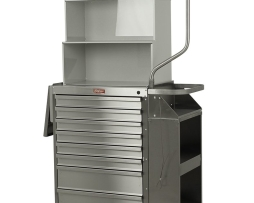 Harloff 6025-TC Cast Cart Stainless Steel Eight Drawer Deluxe