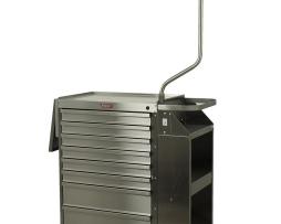Harloff 6025E Cast Cart Stainless Steel Eight Drawer