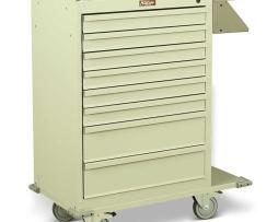Harloff 6030 Cast Cart Painted Steel Eight Drawer