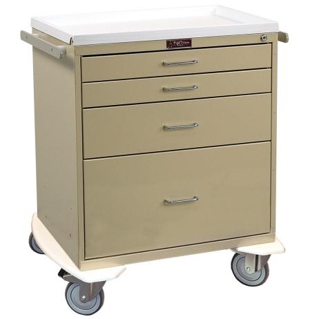 Harloff 6350 Anesthesia Procedure Cart Classic Line Four Drawer