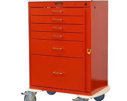 Harloff 6400 Emergency Cart Classic Series Six Drawer