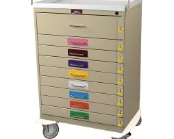 Harloff 6400PEC Pediatric Emergency Cart Nine Drawer