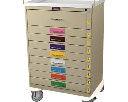 Harloff 6400PEC Classic Series Nine Drawer Pediatric Emergency Cart