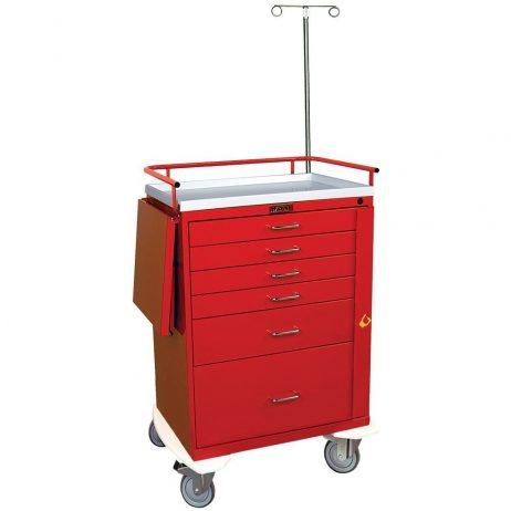 Harloff 6401 Emergency Cart Classic Series Six Drawer
