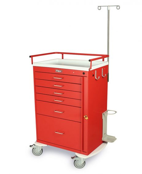 Harloff 6401 Emergency Cart Classic Series Six Drawer
