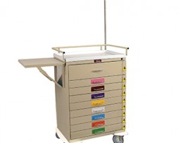 Harloff 6401PEC Classic Series Nine Drawer Pediatric Emergency Cart