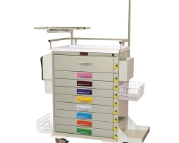 Harloff 6411PEC Pediatric Resuscitation Nine Drawer Emergency Cart