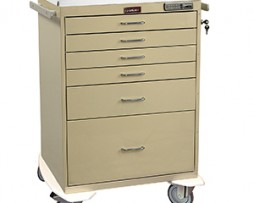 Harloff 7450E Classic Line Six Drawer Anesthesia Procedure Cart