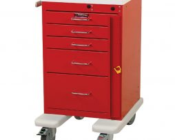 Harloff AL3245B Aluminum Mini Line Five Drawer Emergency Cart