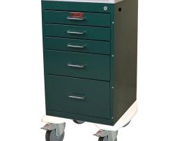 Harloff AL3245K Aluminum Mini Line Five Drawer Treatment Procedure Cart