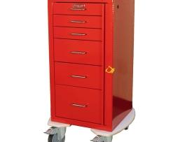 Harloff AL3256B Aluminum Mini Line Six Drawer Emergency Cart