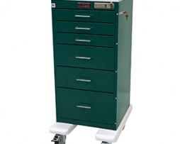 Harloff AL3256E Aluminum Mini Line Six Drawer Treatment Procedure Cart