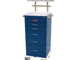 Harloff AL3256K-ANS Aluminum Mini Line Six Drawer Anesthesia Cart