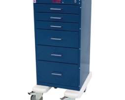 Harloff AL3256K Mini Line Aluminum 6 Drawer Procedure Cart
