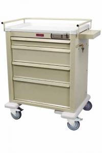 Harloff AL808E4 Aluminum Four Drawer Treatment Procedure Cart