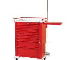 Harloff AL810B7-EMG Universal Line Aluminum Emergency Cart