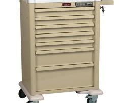 Harloff AL810E7 Aluminum Seven Drawer Treatment Procedure Cart