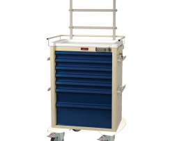 Harloff AL810E7-ANS Universal Line Seven Drawer Aluminum Anesthesia Cart