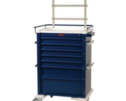 Harloff AL810K7-ANS Universal Line Seven Drawer Aluminum Anesthesia Cart