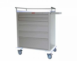 Harloff AL8W10K6 Universal Line Six Drawer Aluminum Treatment Cart