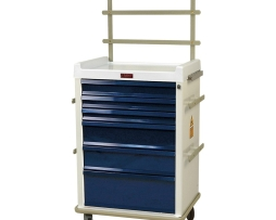 Harloff MR6K-MAN MRI-Compatible Six Drawer Anesthesia Cart