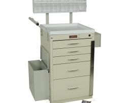 Harloff 3245BPB Mini Line 5 Drawer Phlebotomy Treatment Cart