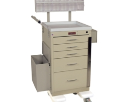 Harloff 3245BPB Mini Line Phlebotomy Treatment Cart
