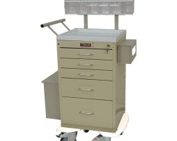 Harloff 3245LPB Mini Line 5 Drawer Phlebotomy Treatment Cart