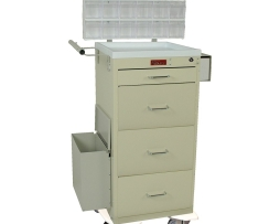 Harloff 3254KPB Mini Line Four Drawer Phlebotomy Treatment Cart