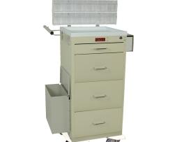 Harloff 3254LPB Mini Line Four Drawer Phlebotomy Treatment Cart
