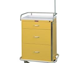Harloff 6501 Infection Control Cart Classic Line Three Drawer