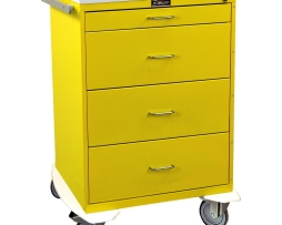 Harloff 6520 Infection Control Cart Classic Line Four Drawer