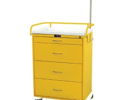 Harloff 6521 Infection Control Cart Classic Line Four Drawer