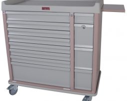 Harloff AL294BOX Aluminum 294 Unit Dose Medication Cart