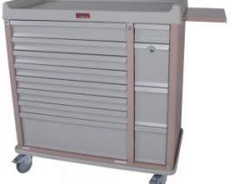 Harloff AL294BOX Aluminum 294 Unit Dose Medication Box Cart