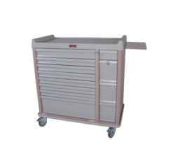 Harloff AL294BOX Aluminum 294 Unit Dose Medication Box Cart