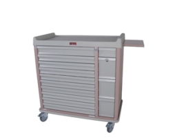 Harloff AL420BOX Aluminum 420 Unit Dose Medication Cart
