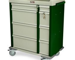 Harloff AL460PC Medication Cart OptimAL Aluminum 480 Punch Card