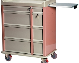 Harloff AL460PC OptimAL Aluminum Punch Card Medication Cart