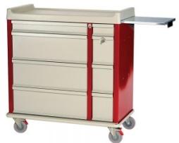 Harloff AL600PC Aluminum Punch Card Medication Cart
